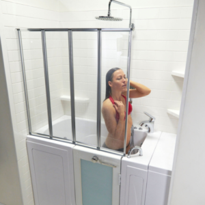 aegis fold mm tempered glass shower screen for walk in tubs x