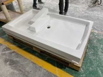 cultured marble shower bases