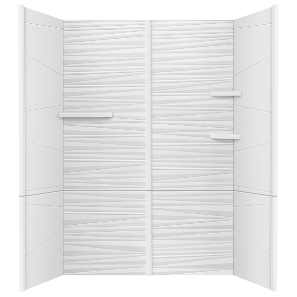 sanctuary white matte cultured marble pc panel shower wall surround