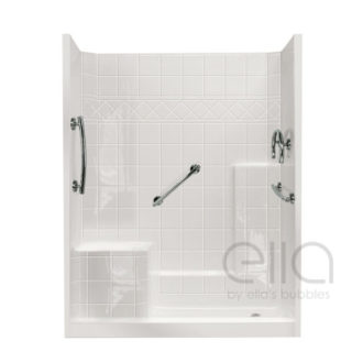 Ultimate Grab Bar Kit Shower With Molded Seat
