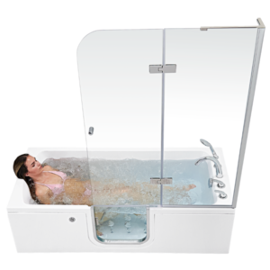 Ella's Bubbles - Lay Down inside of Bathtub - Walk In Tub with Door and Seat