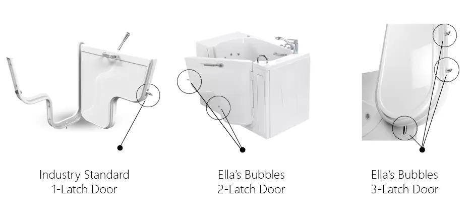 latch outward swing door