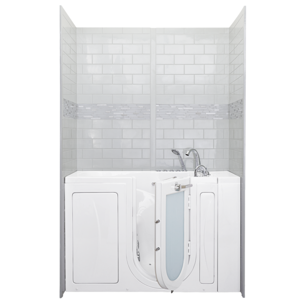 x subway gray gloss cultured marble pc panel shower wall surround