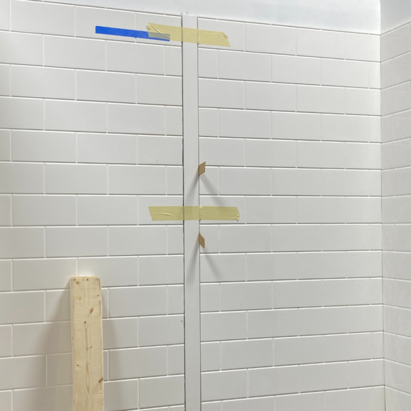 Cultured Marble Shower wall panel install
