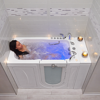 Ellas Bubbles Outward Swing Door Walk In Tubs with Door and Seat for Eldery and Disabled