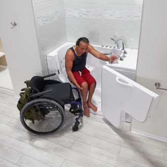 Ella's Bubbles Wheelchair Transfer Bathtubs - Walk In Tubs with Door and Seat