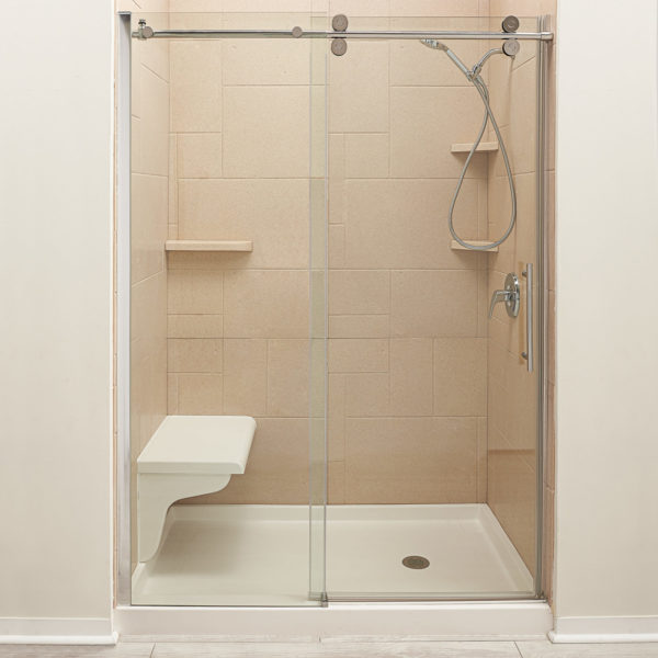 Shower_Seat_Shot_Head_On_Full_Shower_Travertine_Cultued_marble_wall_surround