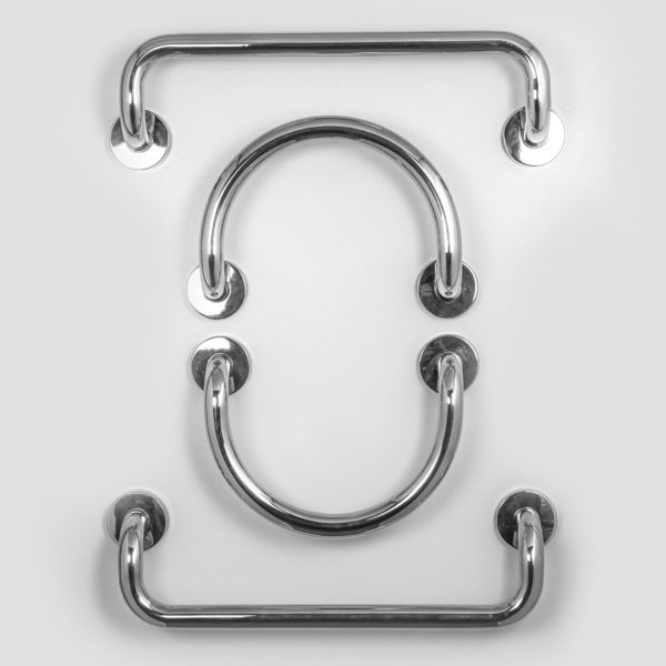 """Polished Stainless Steel 12""""x1 ¼"""" Circle Grab Bar for Valve or ..."""
