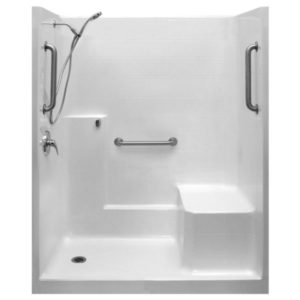 Classic Valve Kit One Piece Low Threshold Shower With Molded Seat AcrylX