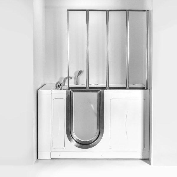 BC-611648N 4 fold 3mm Tempered Glass Bath Screen for Walk In Tub