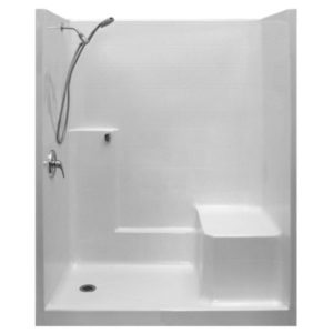 Standard Valve Kit One Piece Low Threshold Shower With Molded Seat AcrylX