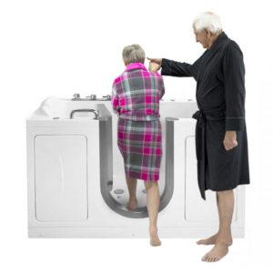 the companion two seat inward swing door acrylic walk in bathtub