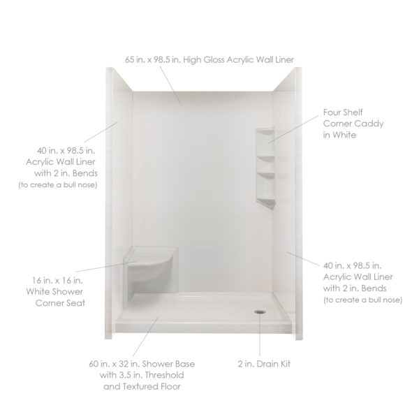 Complete Acrylic Wall Liner Package