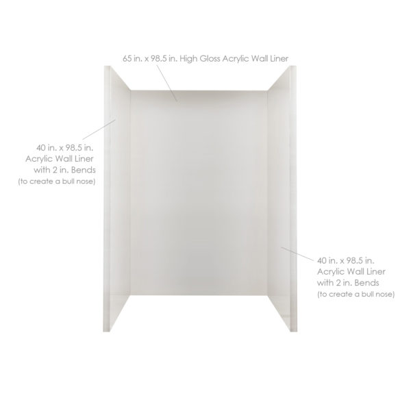 Standard Acrylic Wall Liner Package
