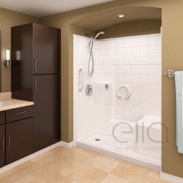 Elite Satin Multi-Piece Low Threshold Shower